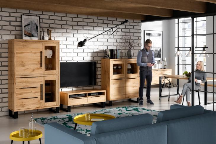 MEBLINE Systémový nábytek HALLE 2 Dub wotan