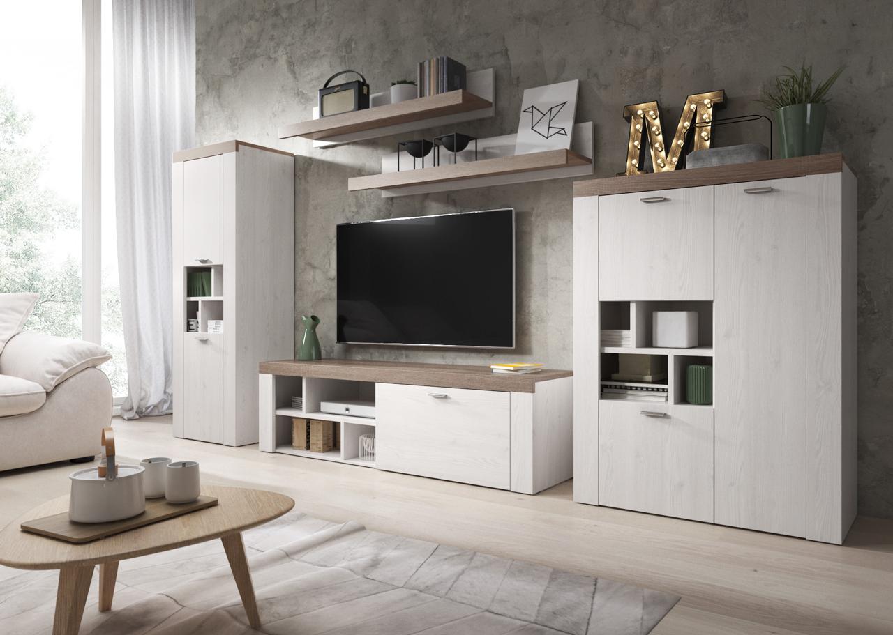 MEBLINE Systémový nábytek AMY 1 Sibiu larche / Sonoma Trufel
