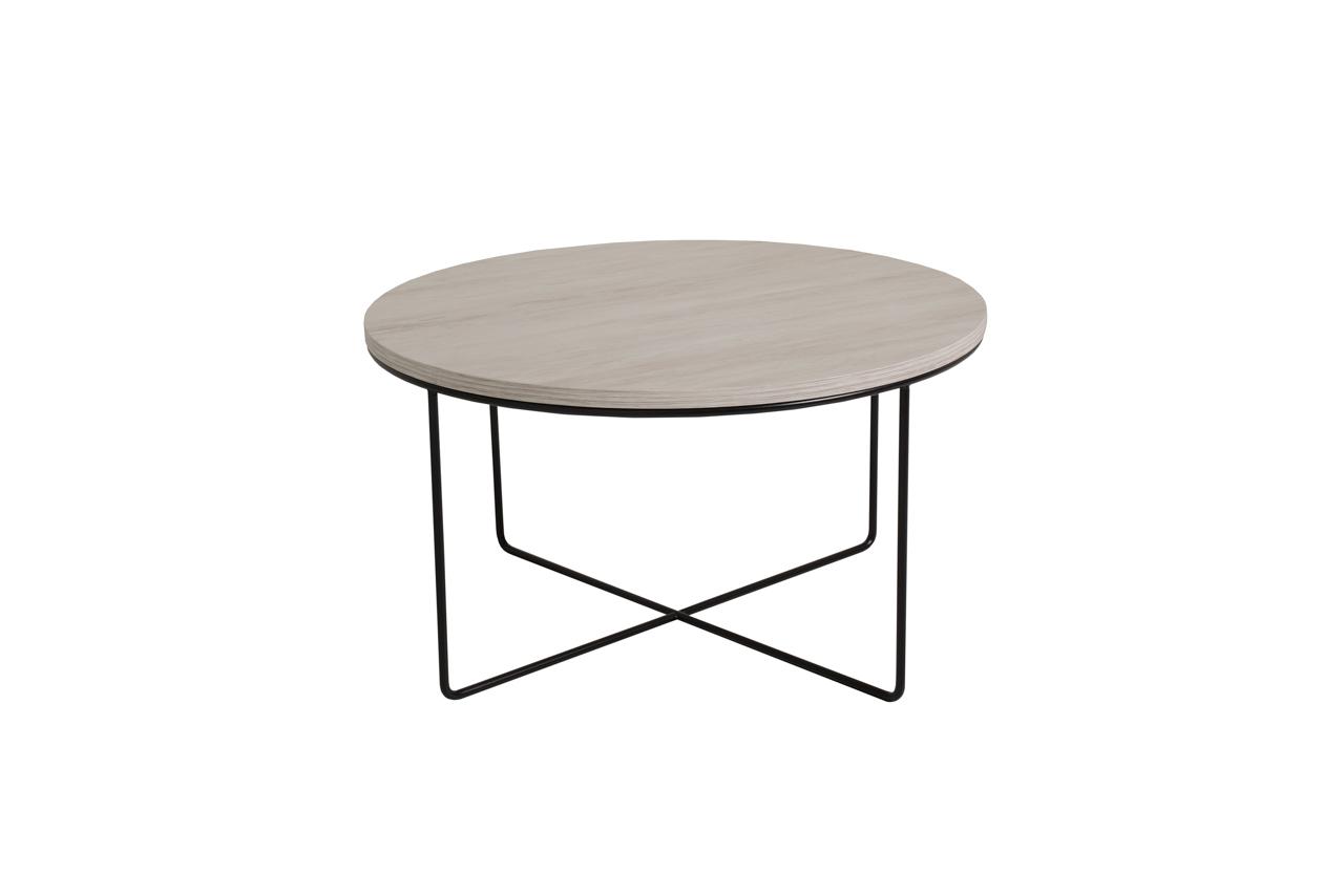 MEBLINE Konferenční stolek BARI Bílý Dub / Černý