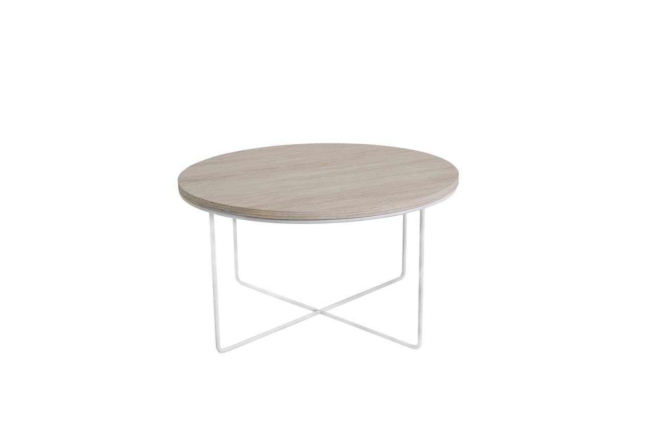 MEBLINE Konferenční stolek BARI Bílý Dub / Bílý