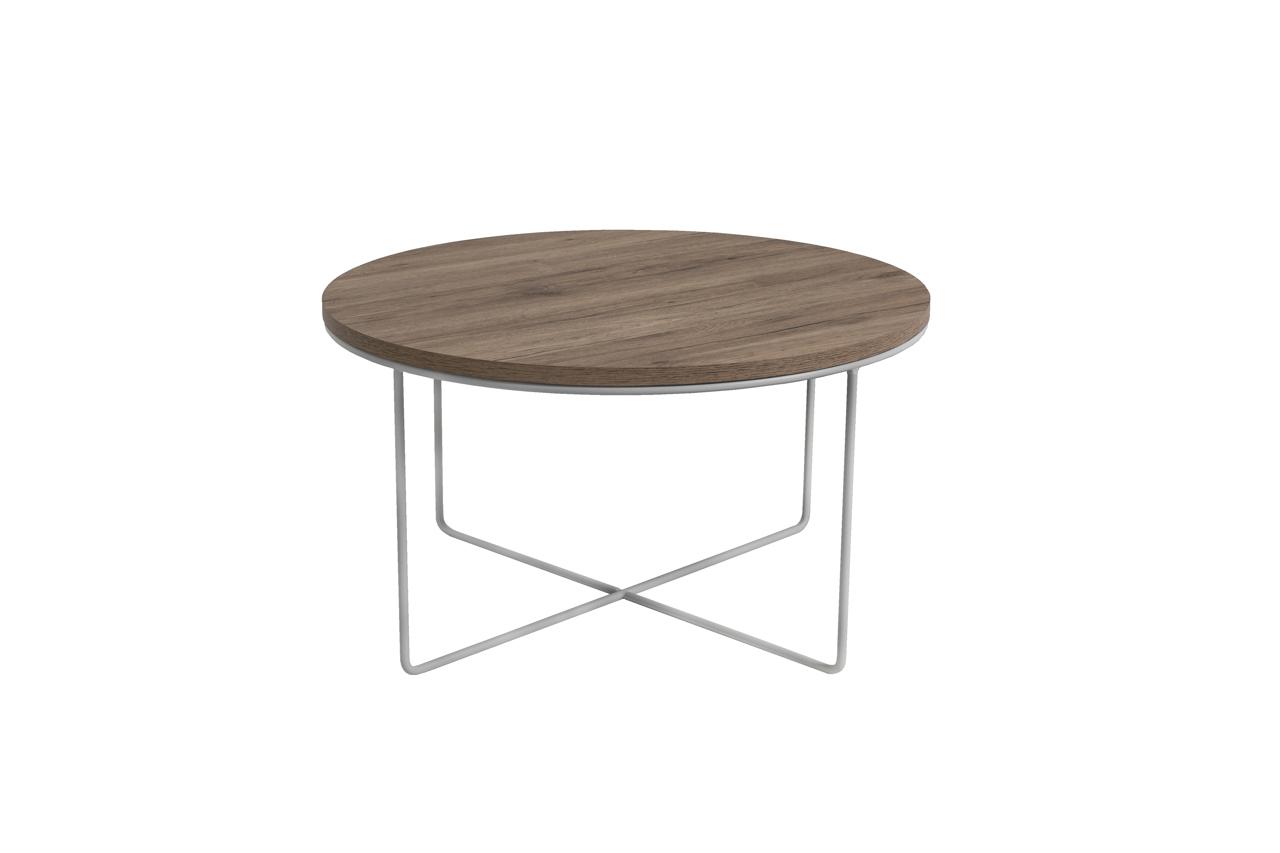 MEBLINE Konferenční stolek BARI San Remo / Bílý