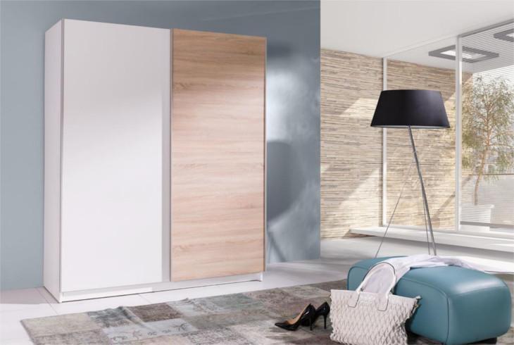 MEBLINE Levna šatní skříň s posuvnými dveřmi BATUMI 3 150