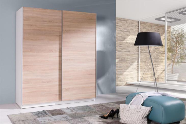 MEBLINE Stylová šatní skříň s posuvnými dveřmi BATUMI 4 150