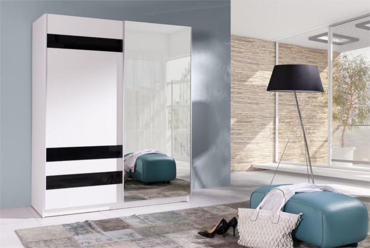 MEBLINE Moderní šatní skříň s posuvnými dveřmi BATUMI 7 150
