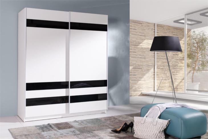MEBLINE Moderní šatní skříň s posuvnými dveřmi BATUMI 8 150
