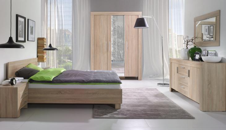 MEBLINE Moderní ložnice sestava 7 sonoma
