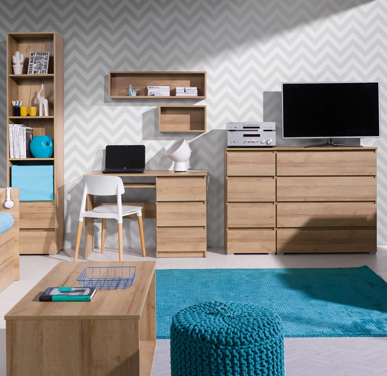 MEBLINE Dětský bílý nábytek COSMO 12