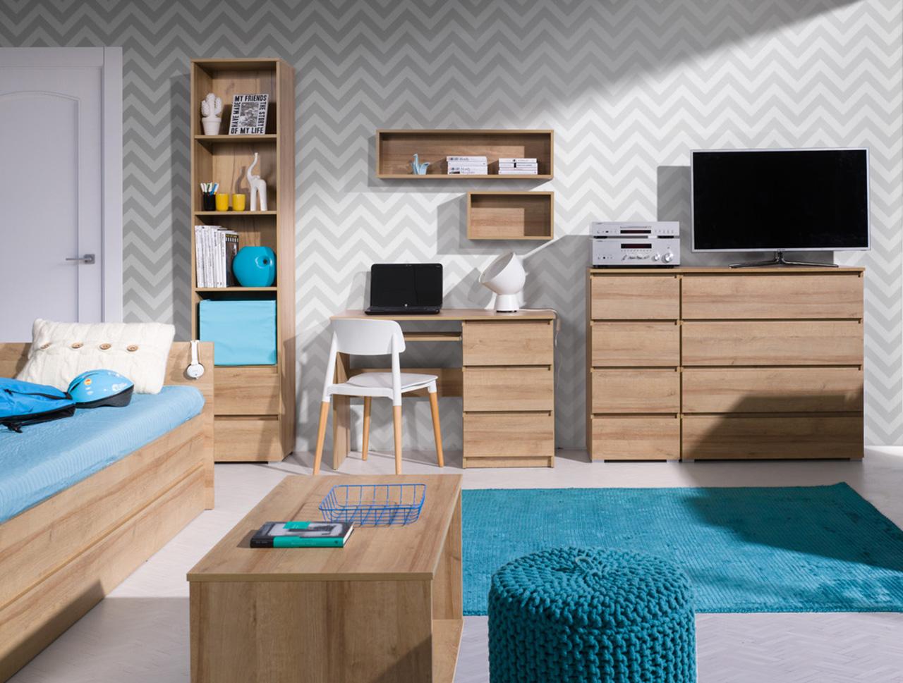 MEBLINE Dětský bílý nábytek COSMO 14
