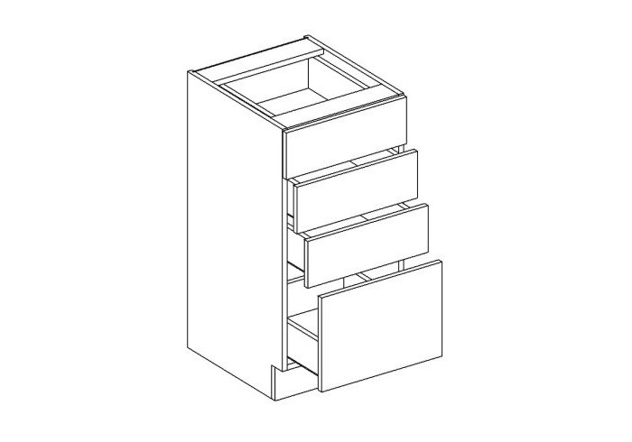 MEBLINE Skříňka dolní D40S/4 - Lungo