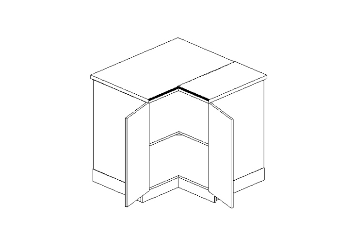 MEBLINE Skříňka dolní DRP P/L - Lungo
