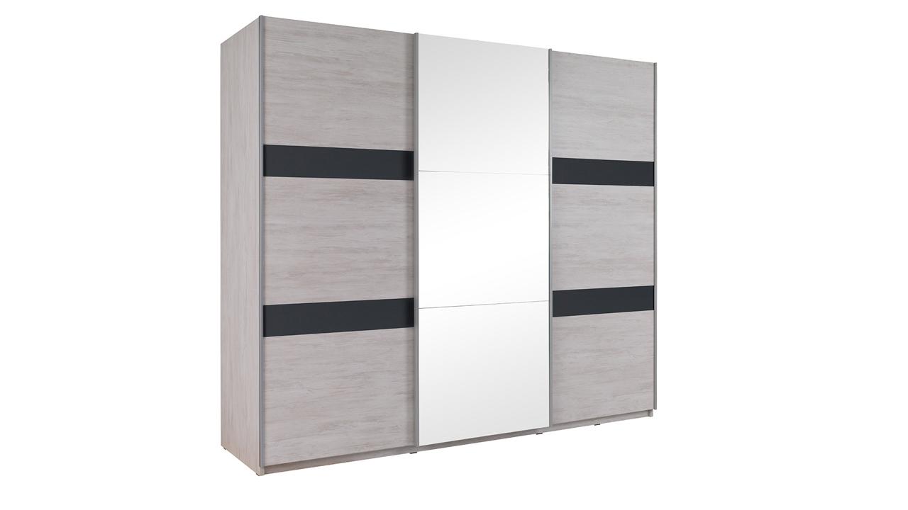 MEBLINE DV1 Šatní skříň se zrcadlem 250 DENVER