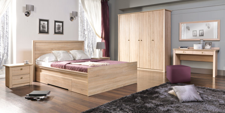 Stylový nábytek do ložnice FINEZJA sestava 7 - MEBLINE.CZ