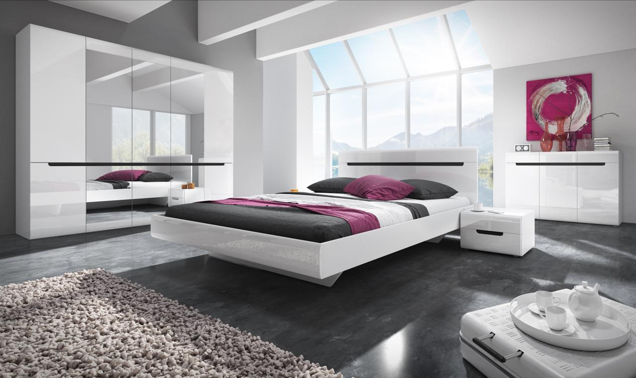 MEBLINE Systémový nábytek HEKTOR 1 bílá lesk
