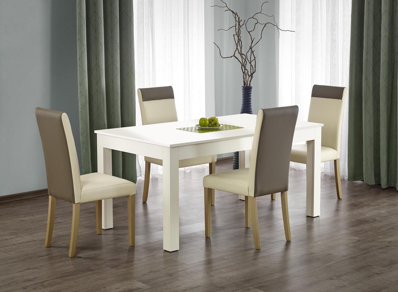 MEBLINE Rozkládací jídelní stůl SEWERYN 160x90 bílý