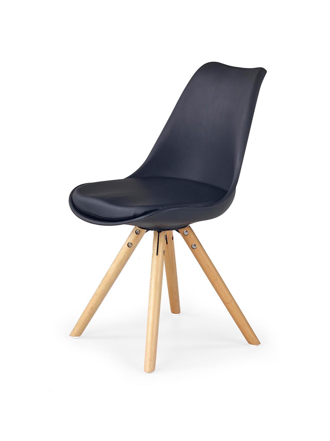 MEBLINE Jídelní židle K201 černá