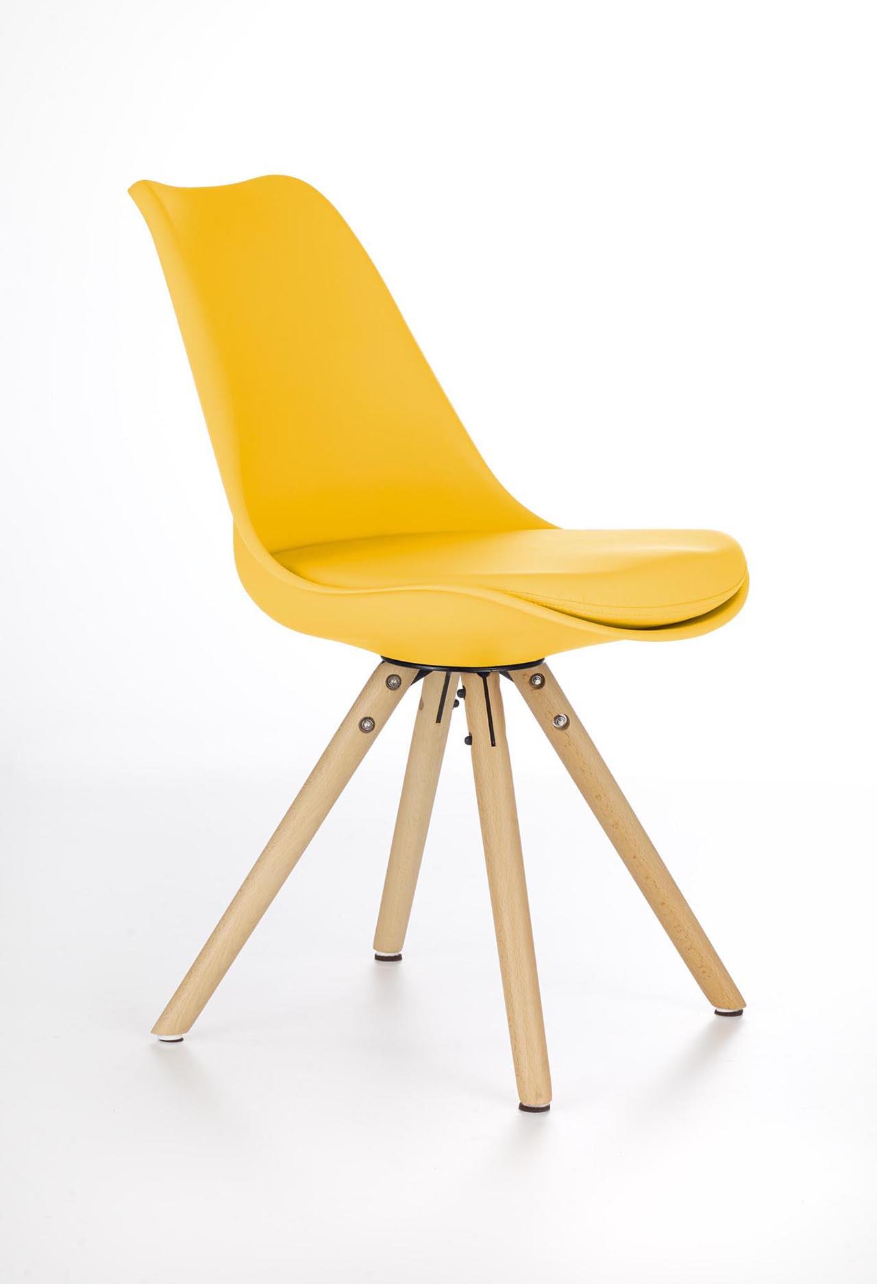 MEBLINE Jídelní židle K201 žlutá
