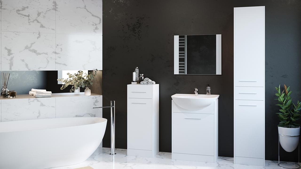 MEBLINE Elegantní koupelna SLIM MINI bílý
