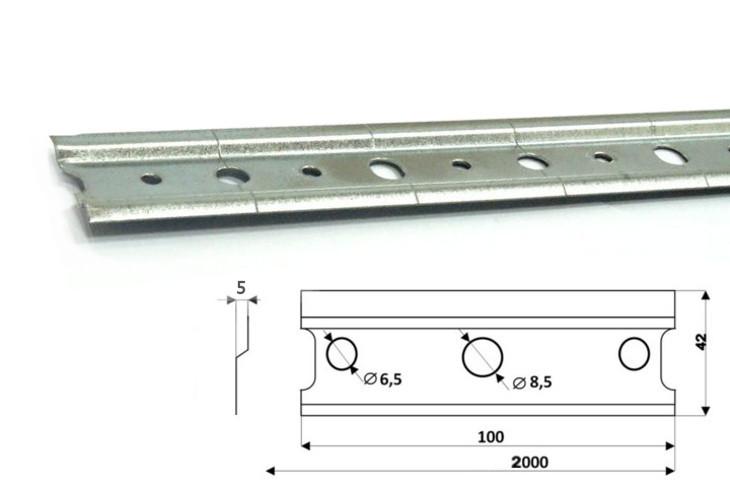 MEBLINE Montážní lišta pro zavěšení závěsných skříněk 200cm