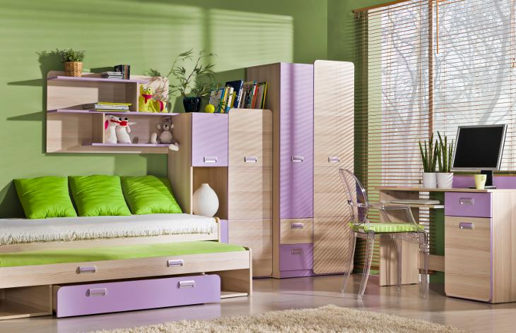 MEBLINE Moderní nábytek do dětského pokoje LORENTO 4