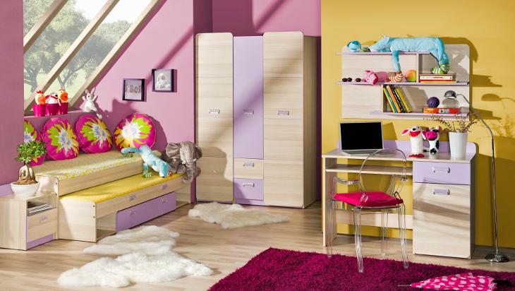 MEBLINE Trendy nábytek do dětského pokoje LORENTO 7