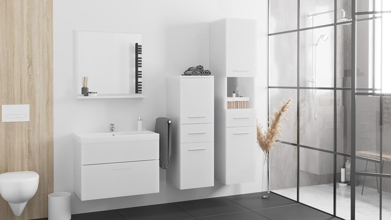 MEBLINE Stylová koupelna LUPO bílý