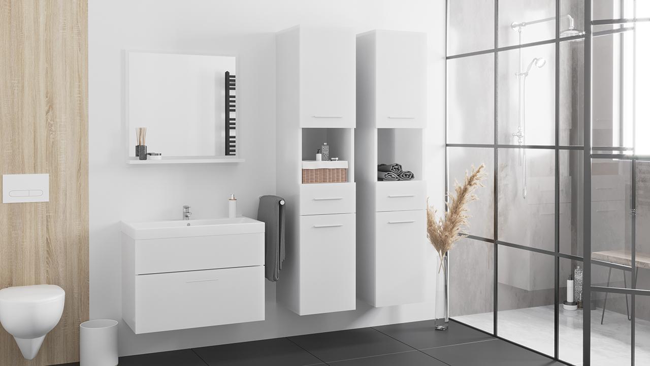 MEBLINE Koupelna LUPO MAX bílý