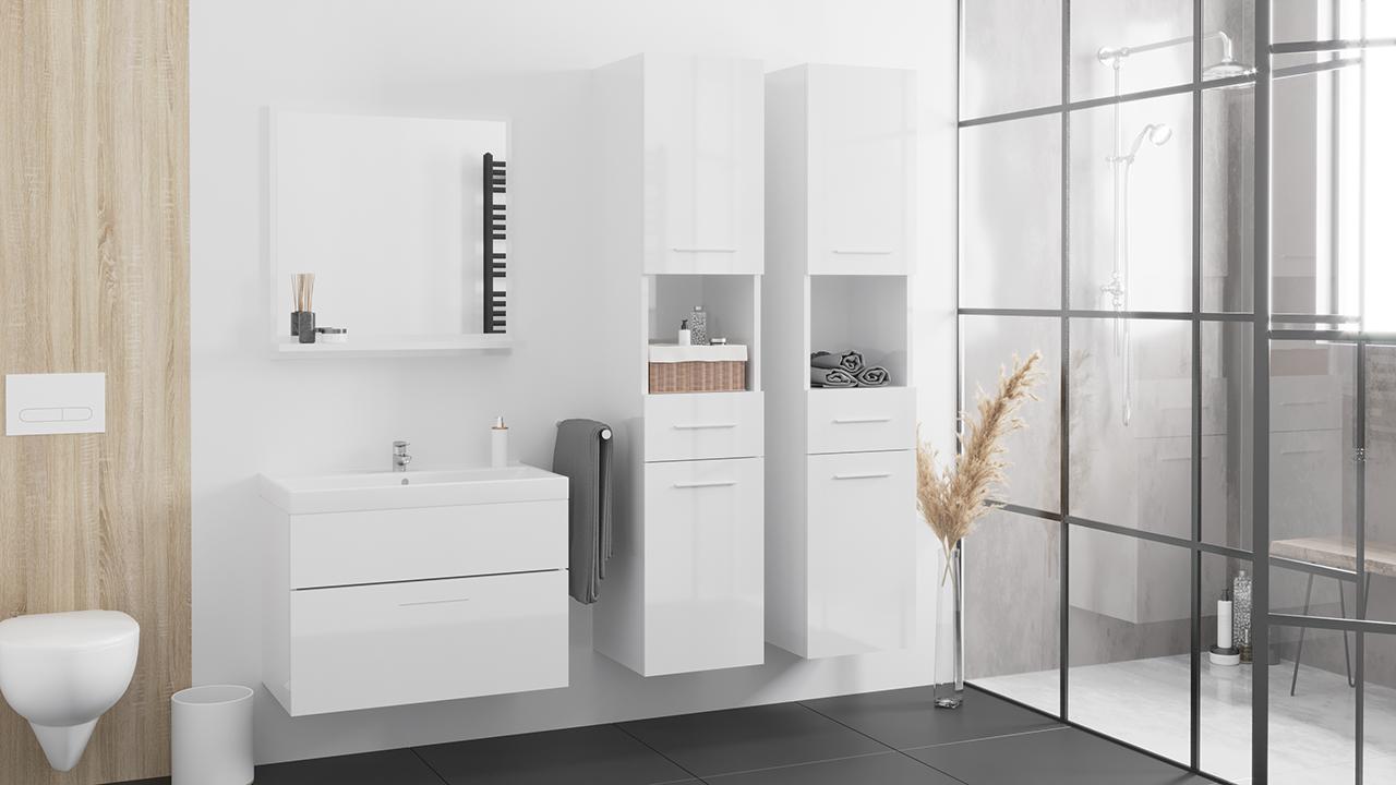MEBLINE Koupelna LUPO MAX bílý lesk
