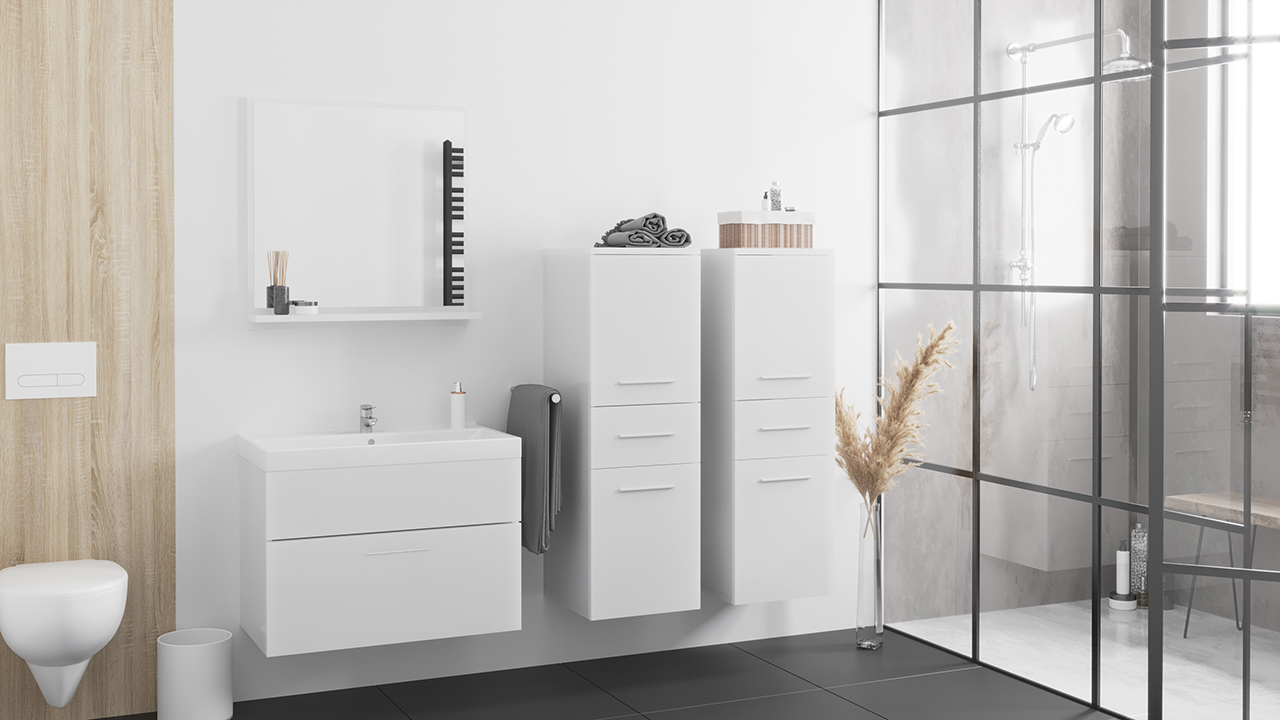 MEBLINE Trendy koupelna LUPO MINI bílý