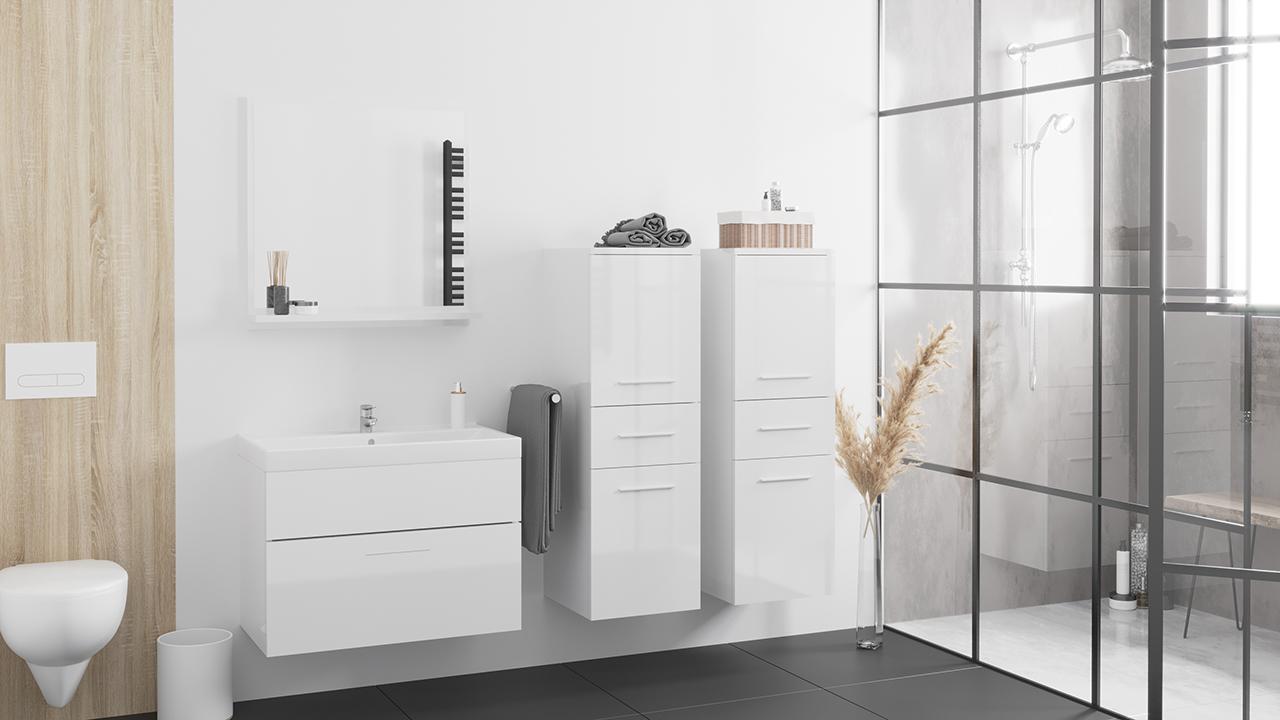 MEBLINE Koupelna LUPO MINI bílý lesk