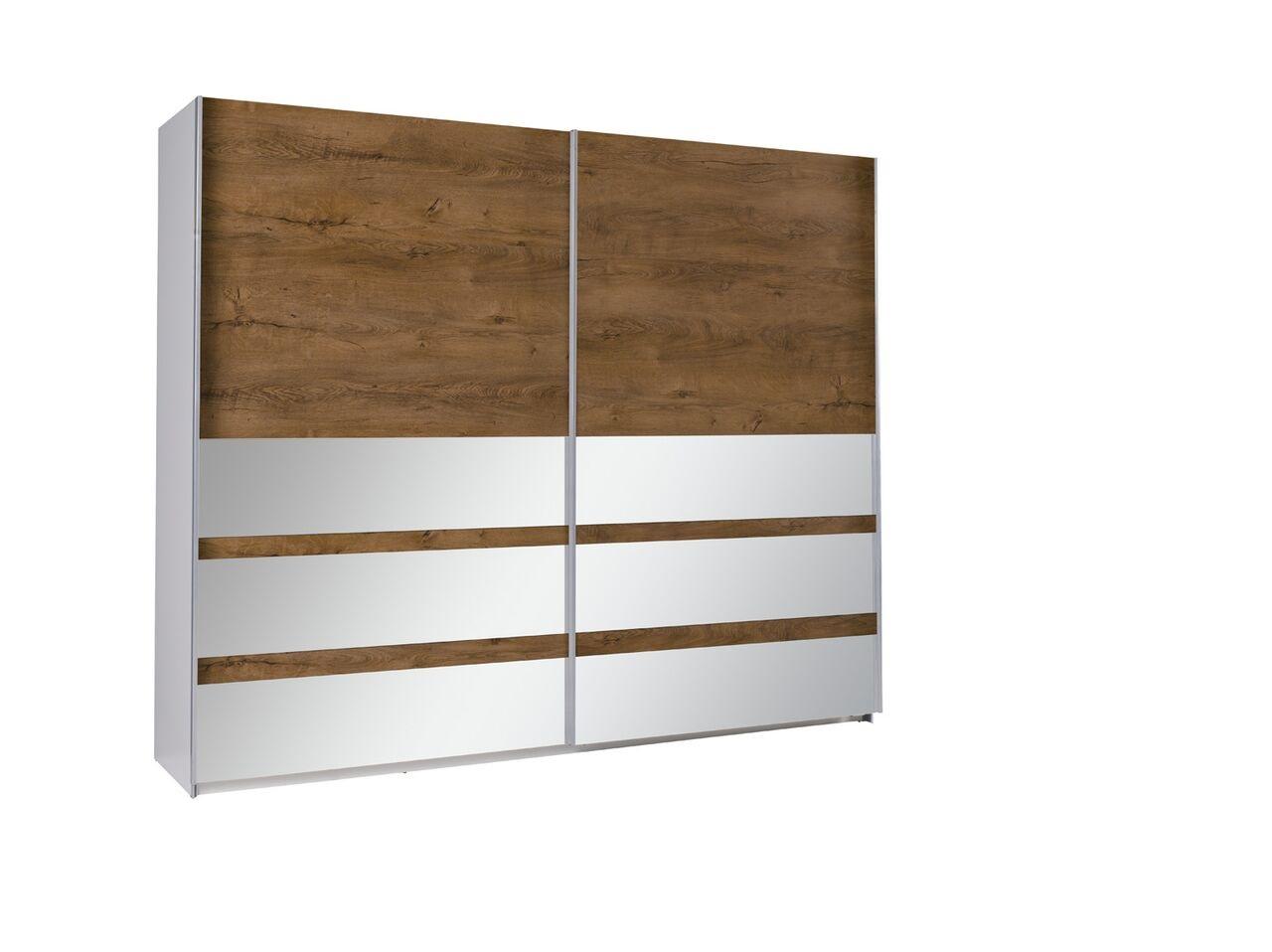 MEBLINE Šatní skříň s posuvnými dveřmi LUX 22