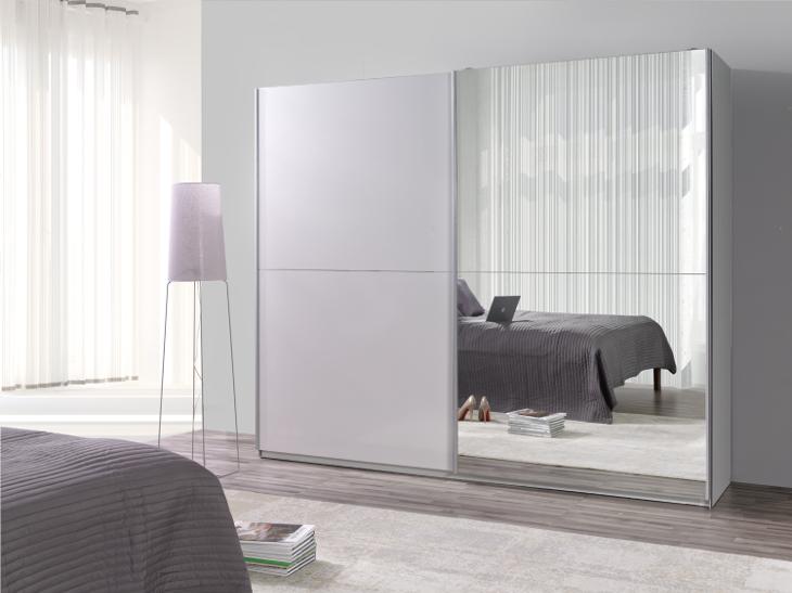 MEBLINE Moderní šatní skříň s posuvnými dveřmi LUX 28