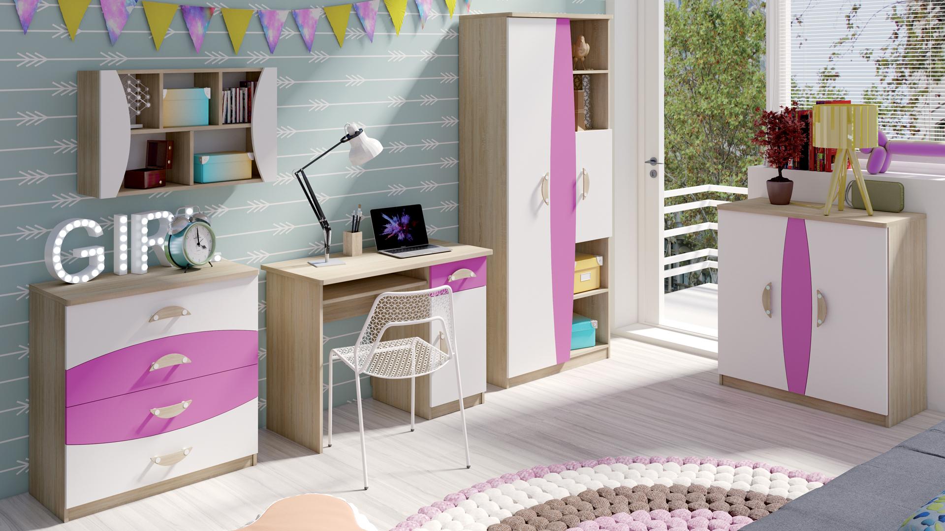MEBLINE Levný nábytek do dětského pokoje TENUS II Sestava 1