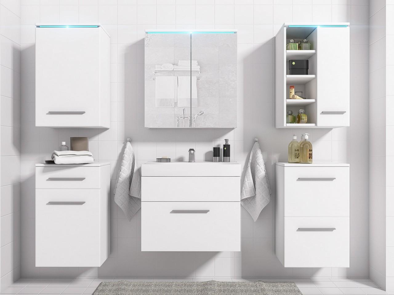 MEBLINE Koupelna MEGI bílý mat