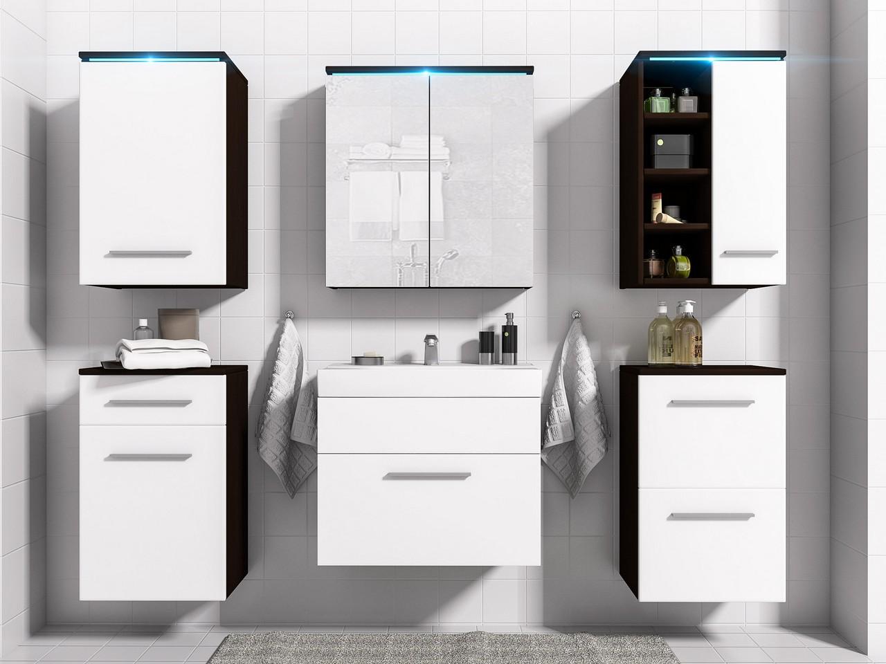 MEBLINE Koupelna MEGI wenge / bílý mat