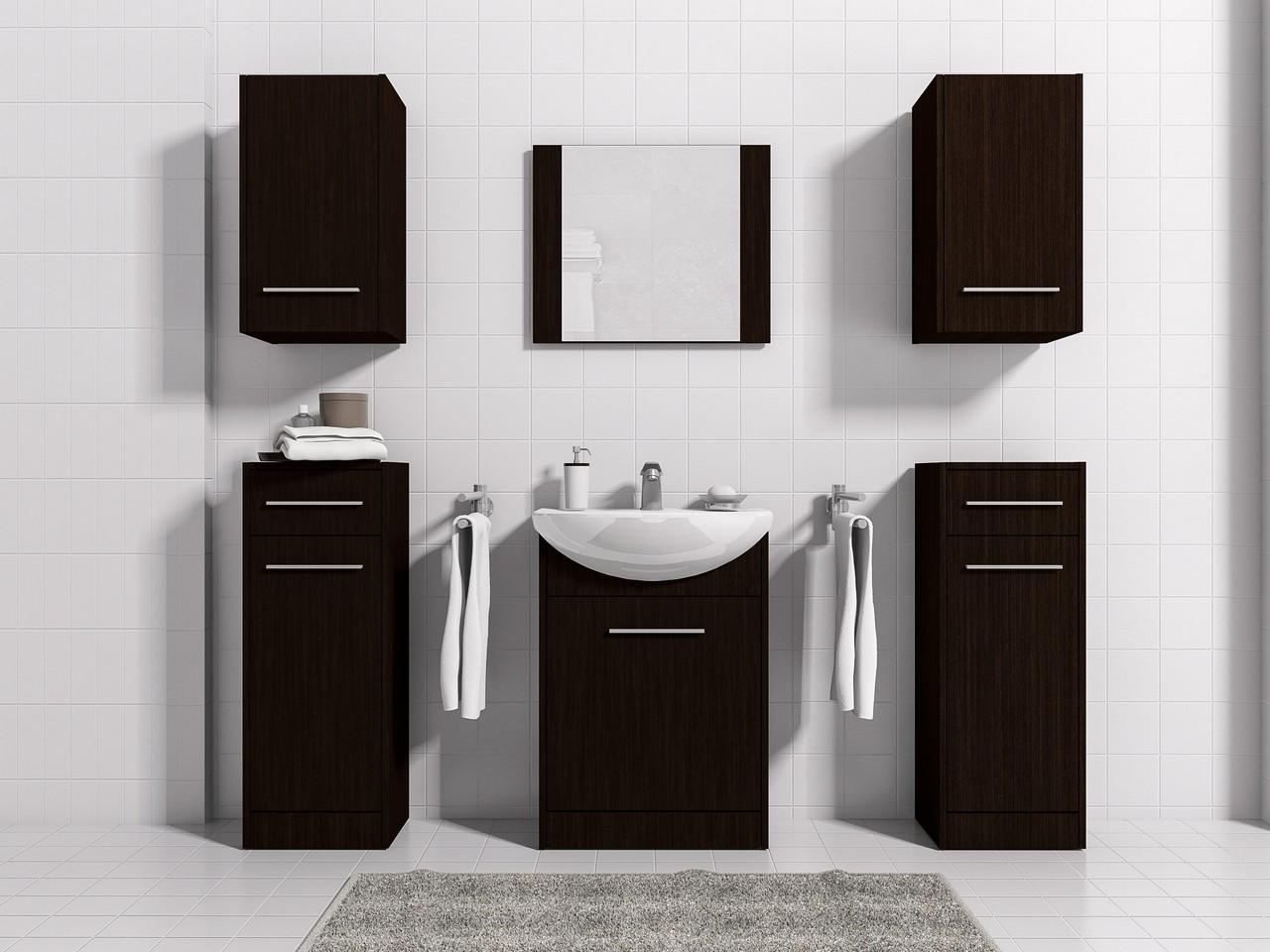 MEBLINE Moderní koupelna NICO MAX wenge
