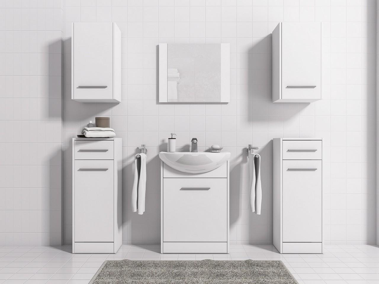 MEBLINE Stylová koupelna NICO MAX bílý