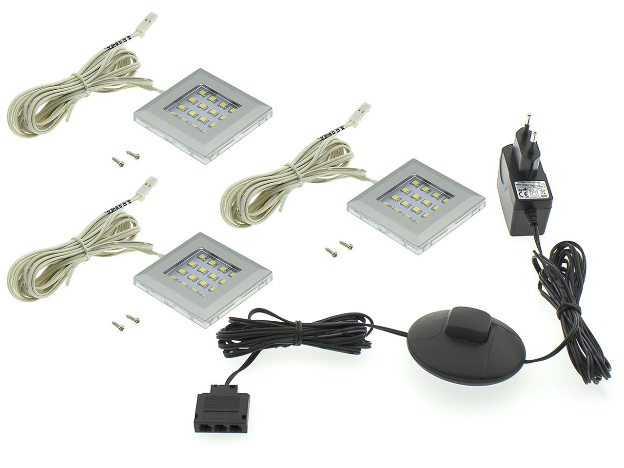 MEBLINE LED osvětlení QUATRO 3P bílé