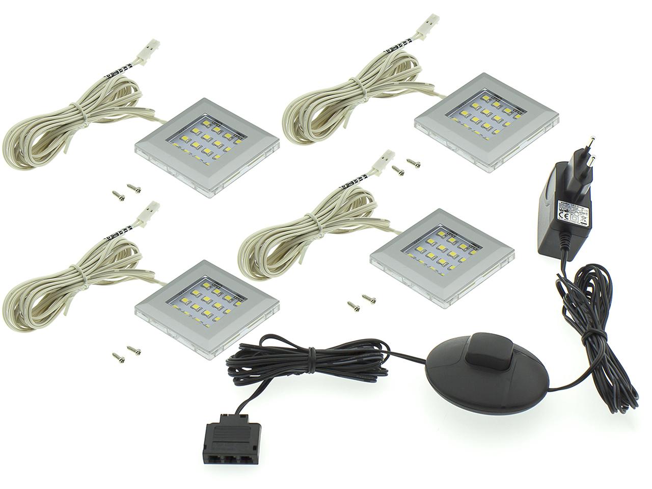 MEBLINE LED osvětlení QUATRO 4P bílé