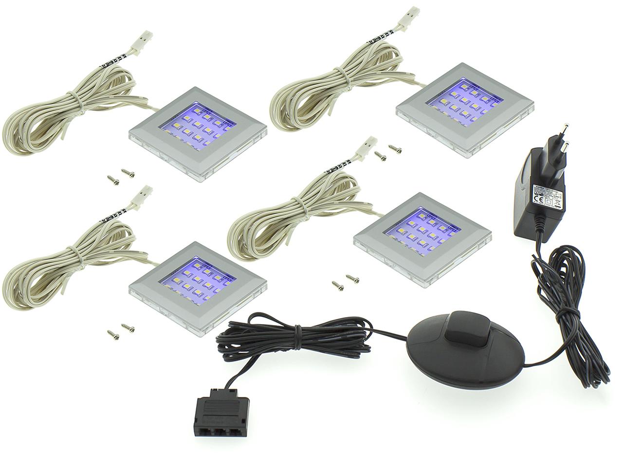 MEBLINE LED osvětlení QUATRO 4P modré