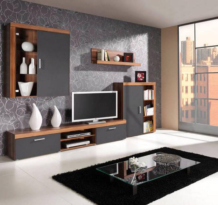 MEBLINE Trendy obývací stěna SAMBA sestava 1 Švestka / Grafit