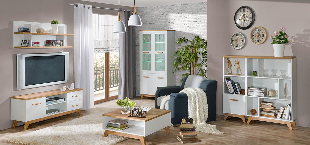 MEBLINE Stylový nábytek do obývacího pokoje LYKKE 4