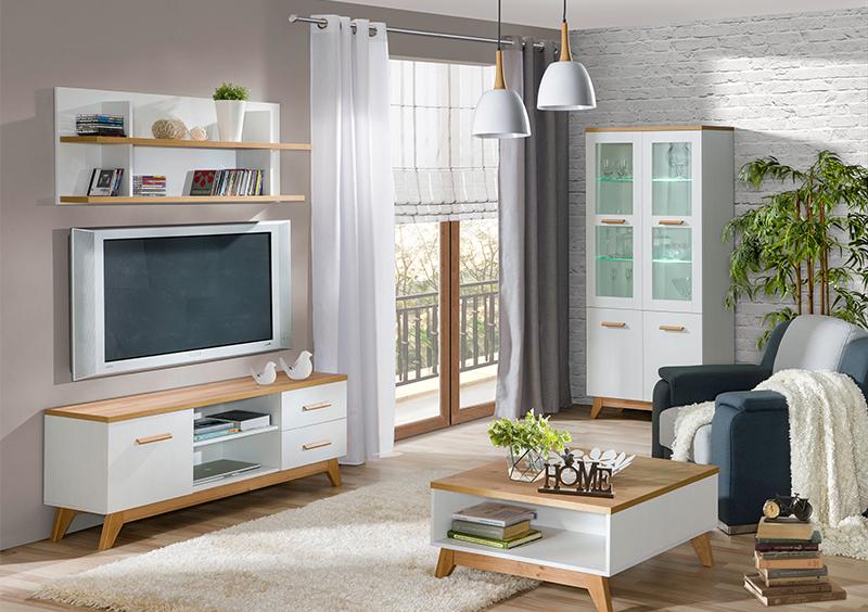 MEBLINE Stylový nábytek do obývacího pokoje LYKKE 5