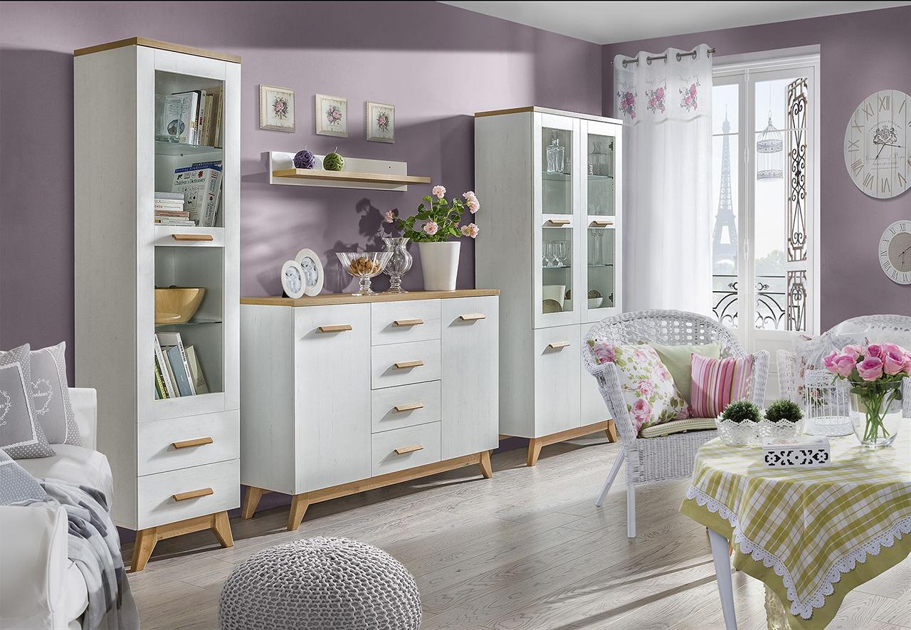 MEBLINE Stylový nábytek do obývacího pokoje LYKKE 6