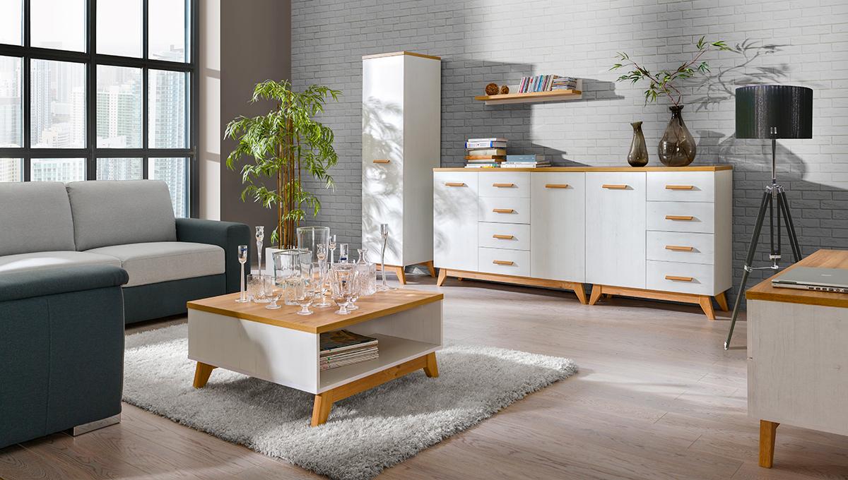 MEBLINE Stylový nábytek do obývacího pokoje LYKKE 8