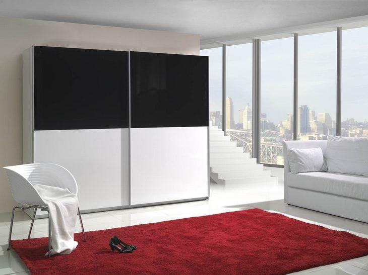 MEBLINE Moderní šatní skříň s posuvnými dveřmi TONI 6 lesk