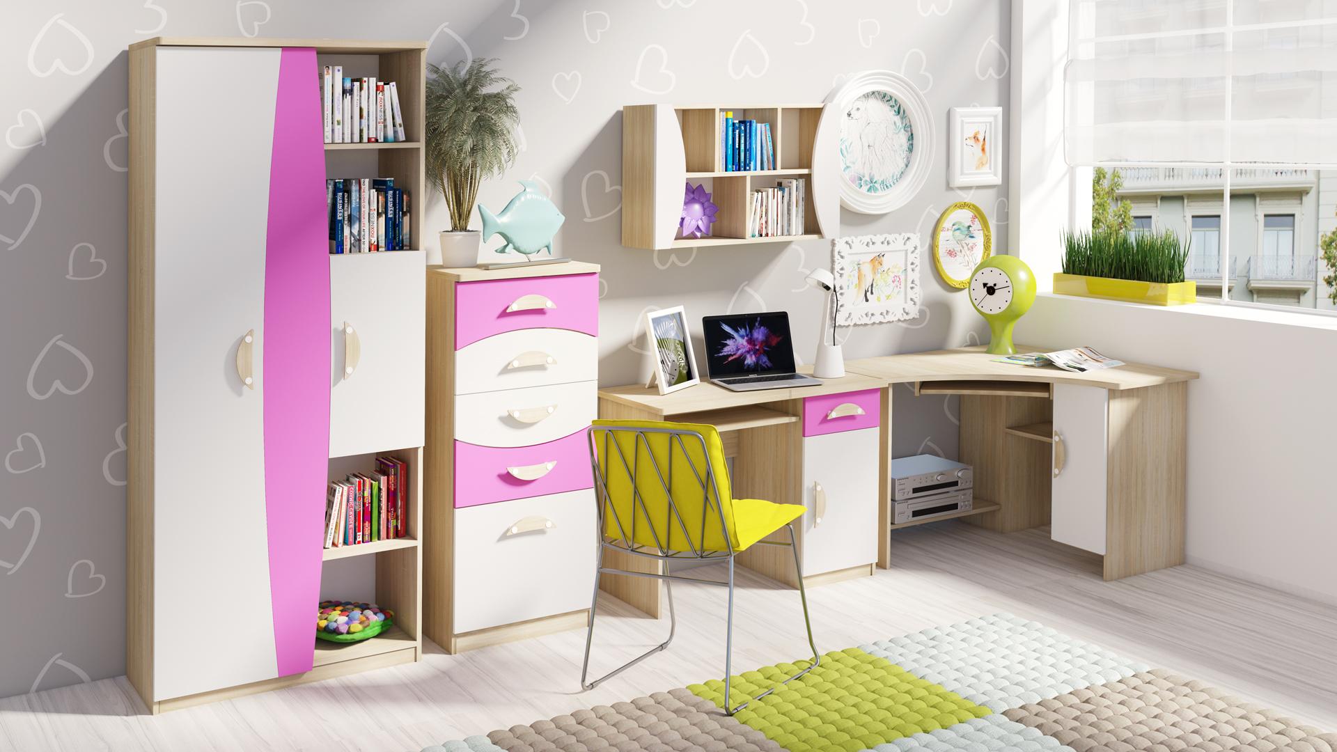 MEBLINE Stylový nábytek do dětského pokoje TENUS II Sestava 3
