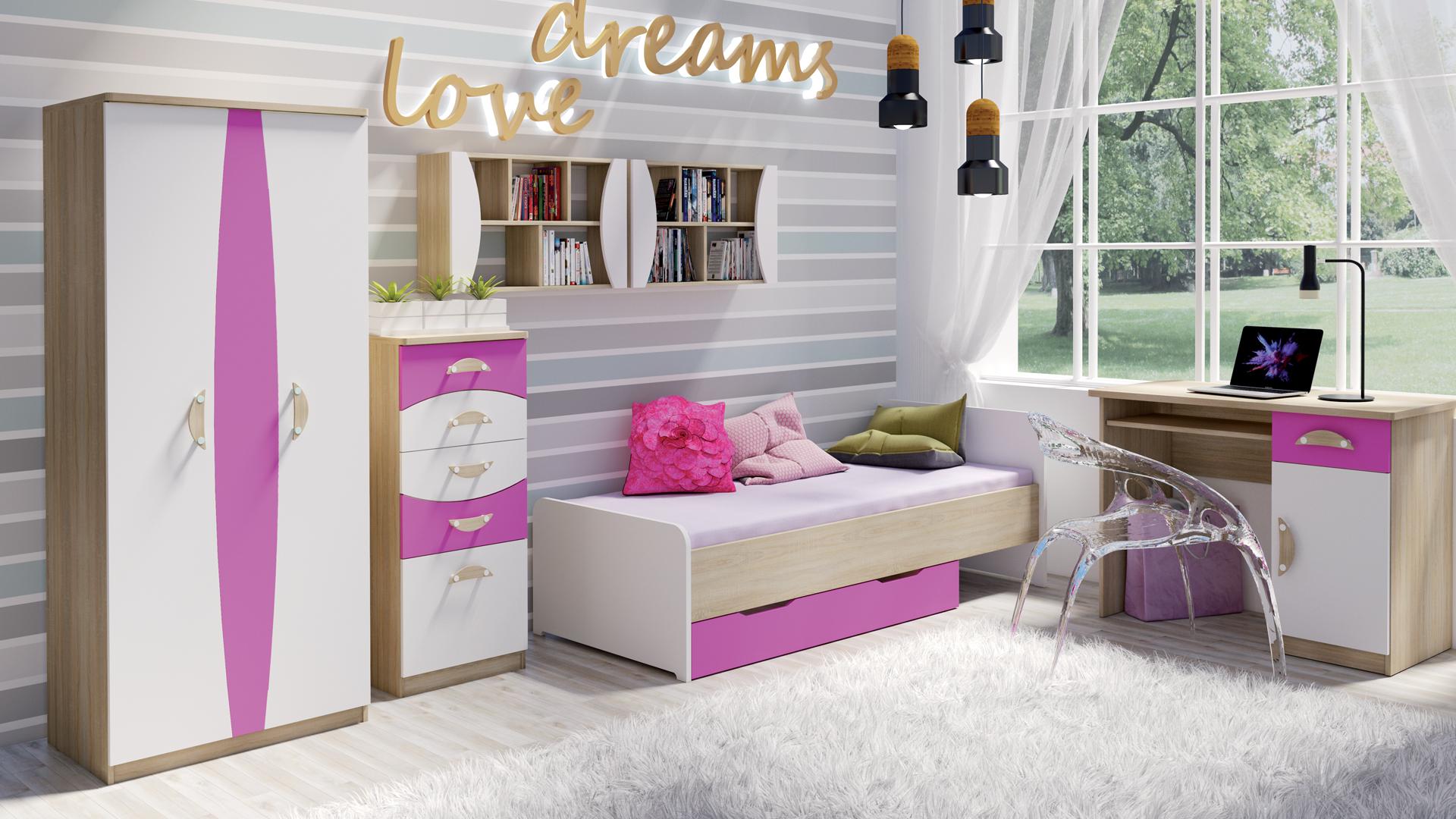 MEBLINE Stylový nábytek do dětského pokoje TENUS II Sestava 7